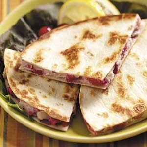 Spicy turkey quesadillas